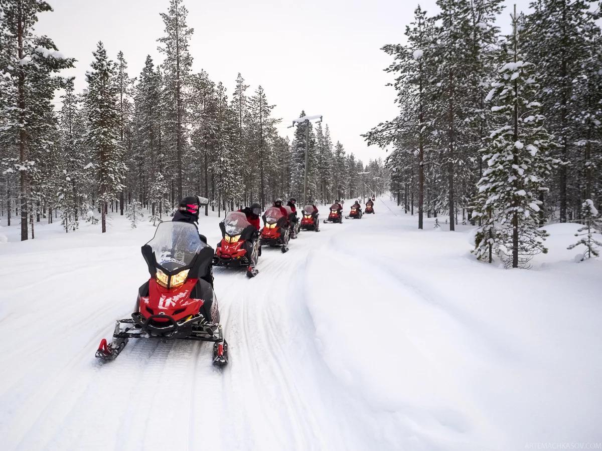 Катание на санях и снегоходах